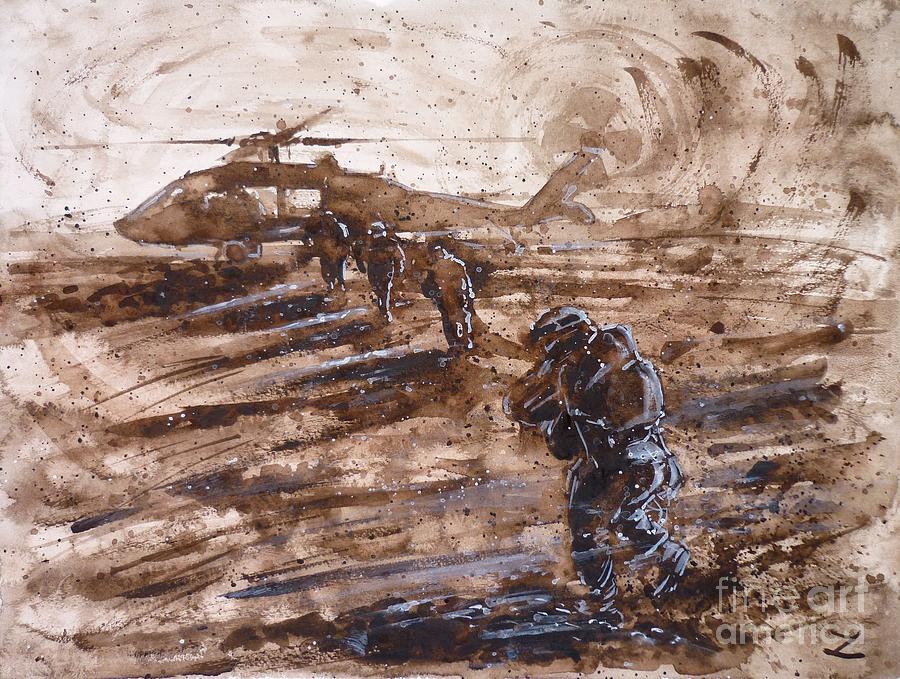 Charlie Mike Painting - Charlie Mike by Zaira Dzhaubaeva