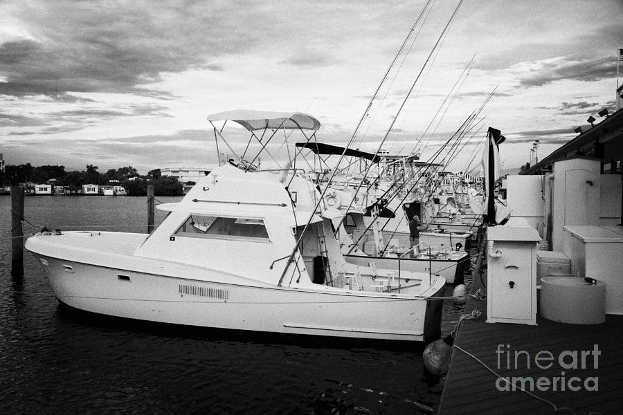 Charter Photograph - Charter Fishing Boats Charter Boat Row City Marina Key West Florida Usa by Joe Fox
