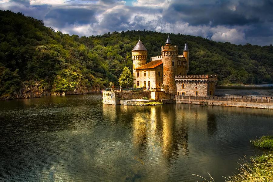 Clouds Photograph - Chateau de la Roche by Debra and Dave Vanderlaan