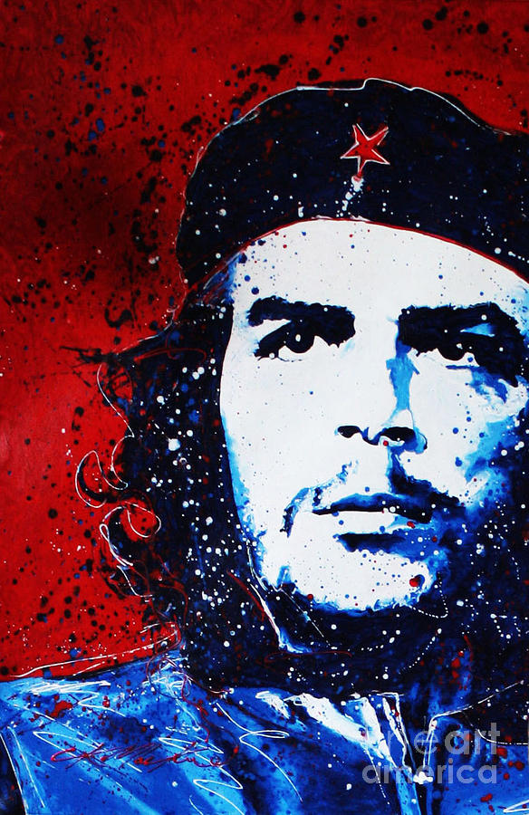 Che Painting - Che by Chris Mackie
