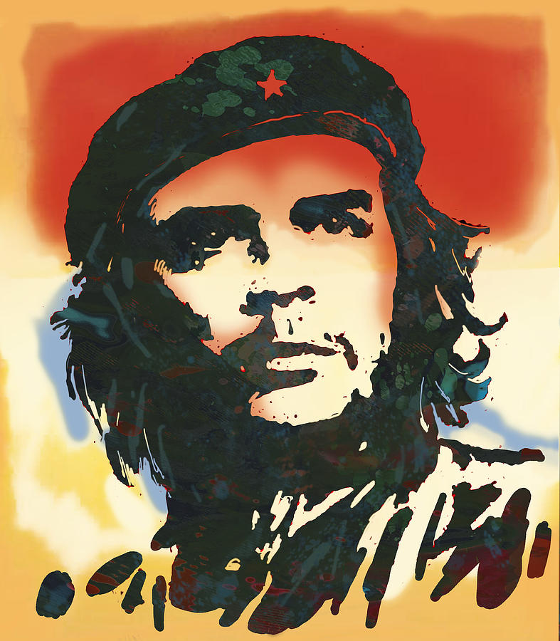 Che guevara stylised modern drawing art sketch drawing by for Art and craft drawing and painting