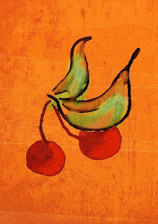 Digital Digital Art - Cherries by Brett Shand