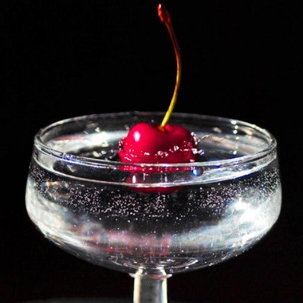 Cocktails Photograph - Cherry! by Emanuela Carratoni