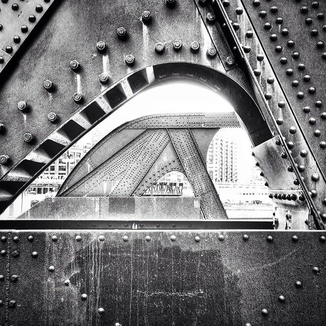 Bridge Photograph - Chicago Bridge in Black and White by Paul Velgos