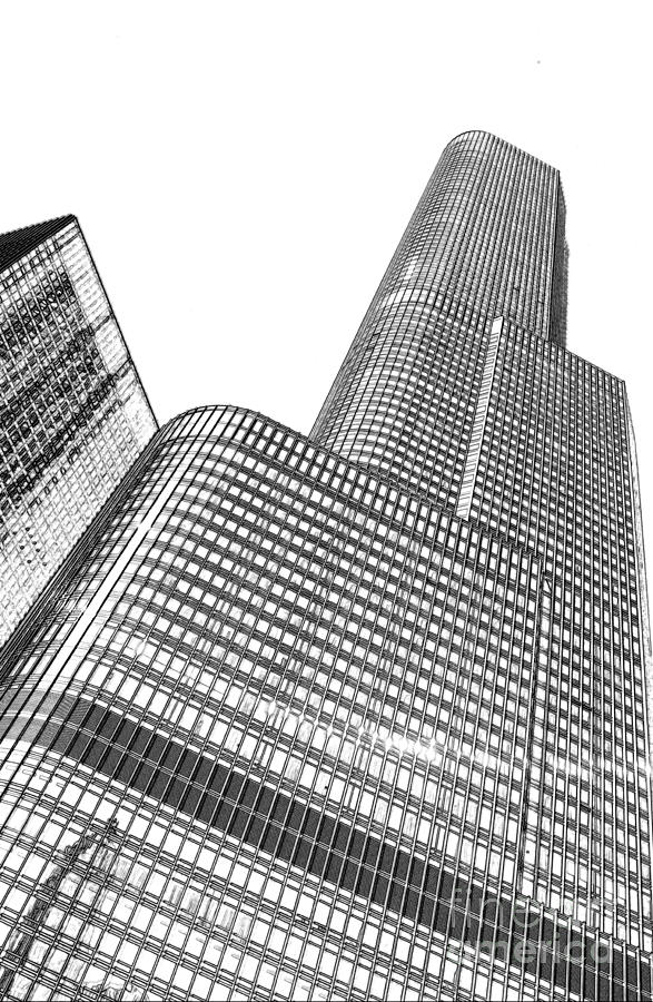 Chicago Downtown Digital Art - Chicago Downtown by Dejan Jovanovic