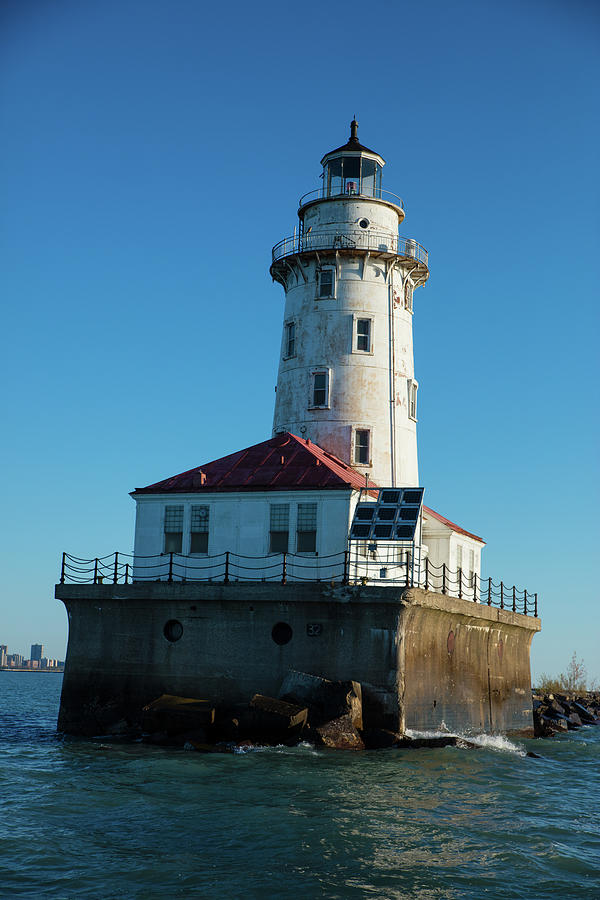 Vertical Photograph - Chicago Harbor Lighthouse by Panoramic Images