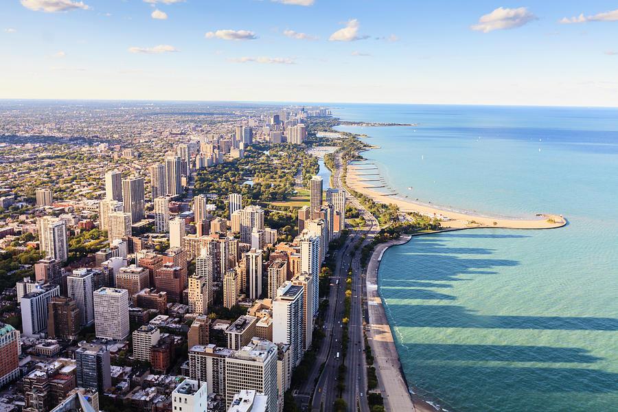 Chicago Lakefront Skyline Photograph by Fraser Hall