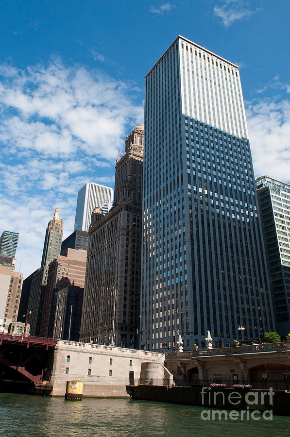 Chicago Downtown Photograph - Chicago River by Dejan Jovanovic