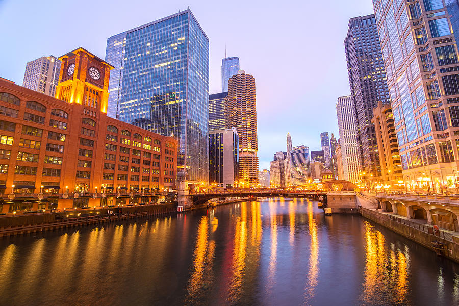 Architecture Photograph - Chicago River View by Jess Kraft