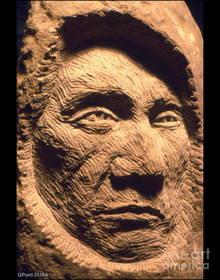 American Indians Sculpture - Chief-red-cloud by Gordon Punt