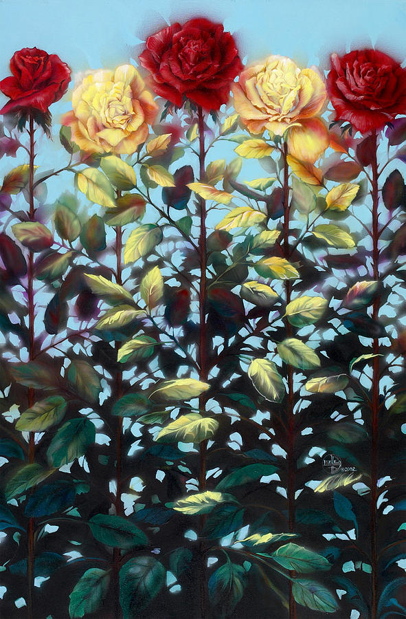 Roses Painting - Chorus Line by Lynette Yencho