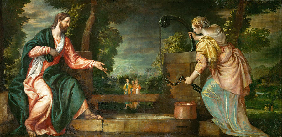 Christ And The Samaritan Woman At The Well Painting By