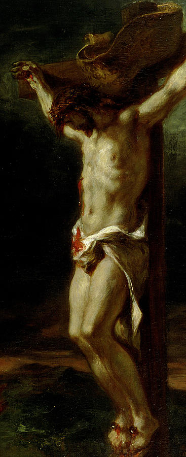 Jesus Painting - Christ On The Cross by Delacroix