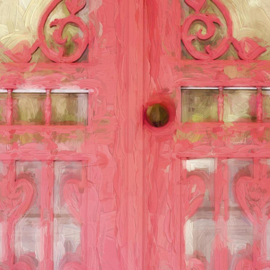 Screen Door Photograph - Church Camp House Detail Painterly Series 18 2 by Carol Leigh
