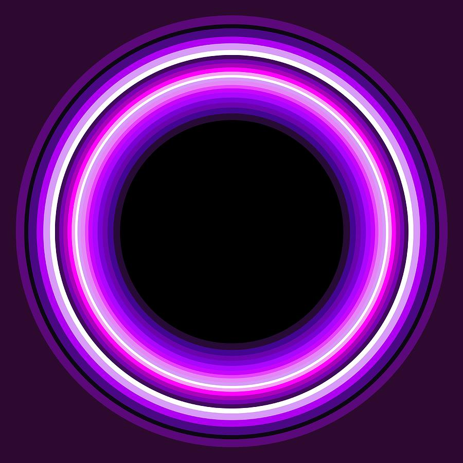 Abstract Painting - Circle Motif 144 by John F Metcalf