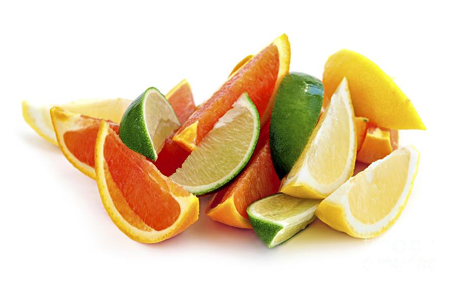 Orange Photograph - Citrus Wedges by Elena Elisseeva