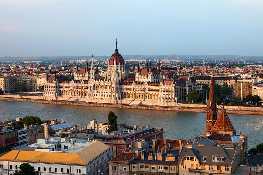 Architectural Photograph - City Of Budapest Cityscape by Artur Bogacki