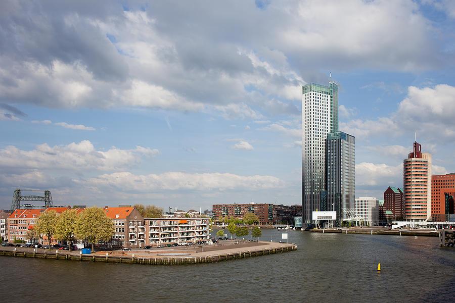 Rotterdam Photograph - City Of Rotterdam In Netherlands by Artur Bogacki