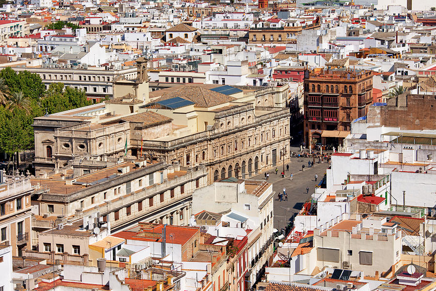 Above Photograph - City Of Seville Cityscape In Spain by Artur Bogacki