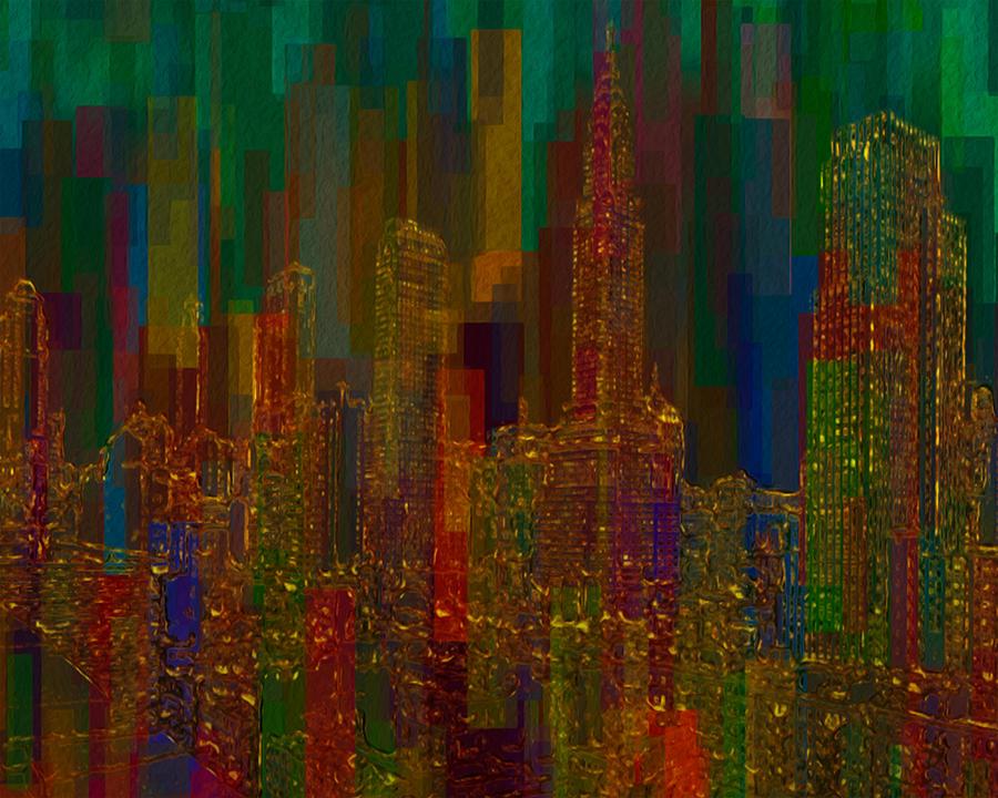 City Painting - Cityscape 5 by Jack Zulli
