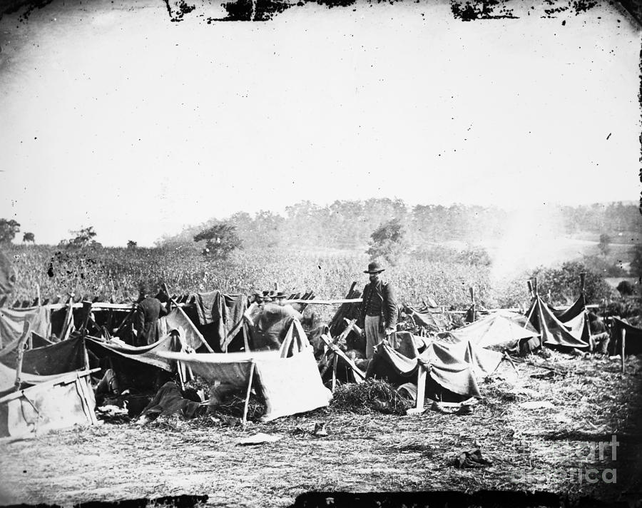 1862 Photograph - Civil War: Wounded, 1862 by Granger