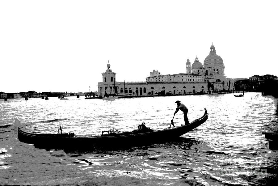 Black And White Photograph - Classic Venice by Jacqueline M Lewis