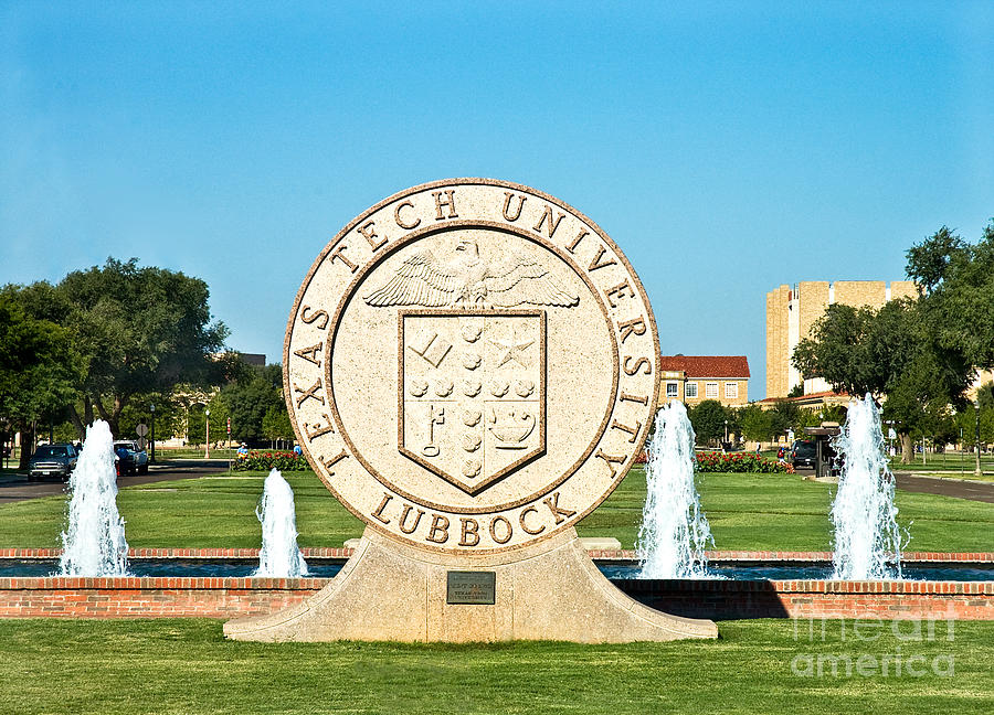 Classical Image Of The Texas Tech University Seal  Photograph by Mae Wertz