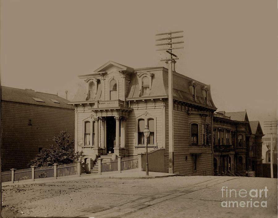 Clay Photograph - Clay And Hyde Streets San Francisco Built In 1874 Burned In The 1906 Fire by California Views Mr Pat Hathaway Archives