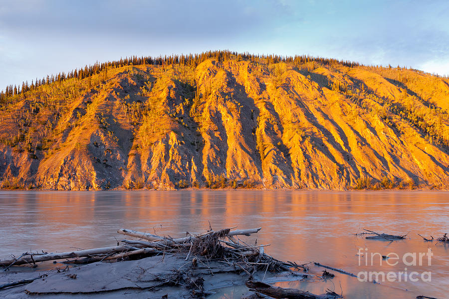 Adventure Photograph - Clay Cliff At Yukon River Near Dawson City by Stephan Pietzko