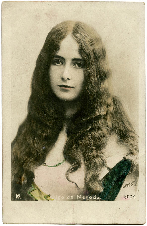 Cleo Photograph - Cleo De Merode (1875 - 1966), French by Mary Evans Picture Library