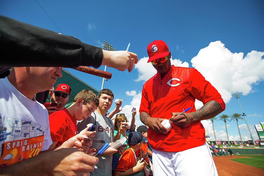 Cleveland Indians V Cincinnati Reds 1 Photograph by Rob Tringali