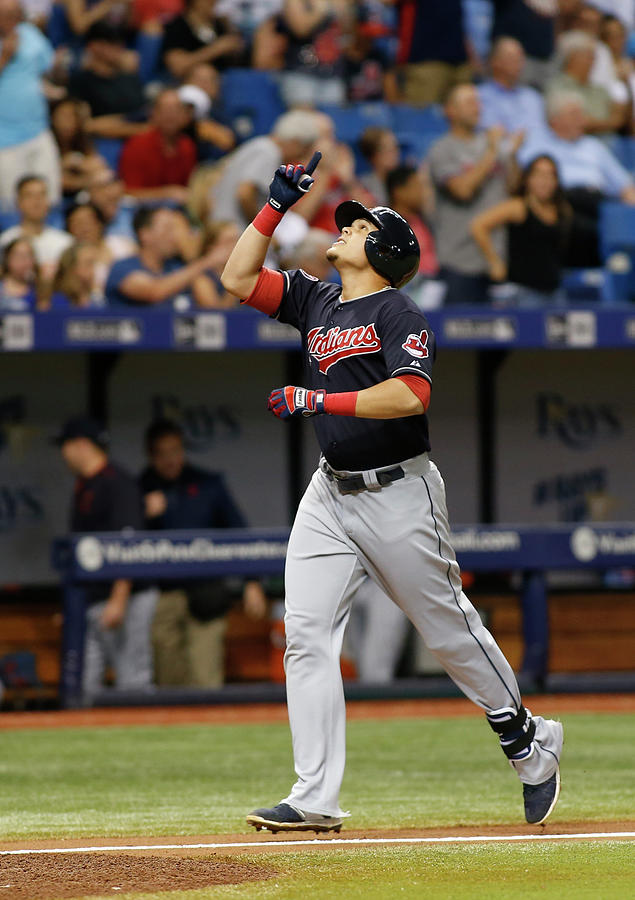 Cleveland Indians V Tampa Bay Rays Photograph by Brian Blanco