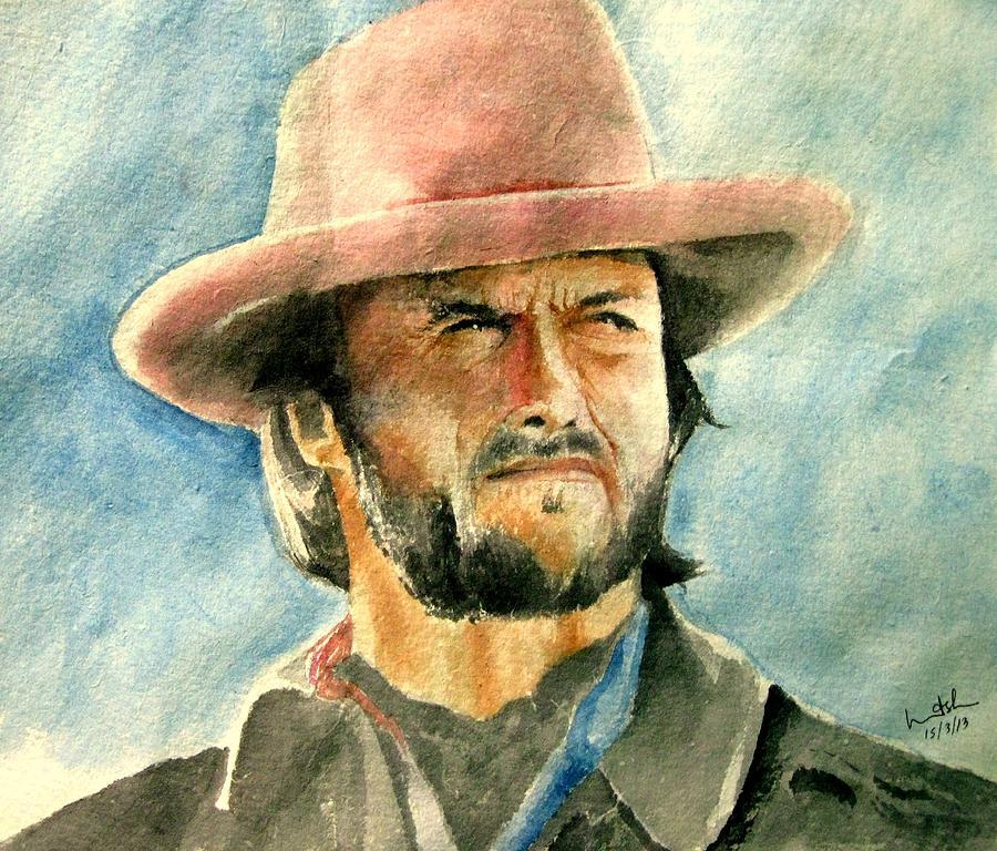 Clint Eastwood Painting - Clint Eastwood by Nitesh Kumar