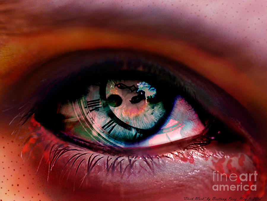 Eye Digital Art - Clock Work by Brittany Perez