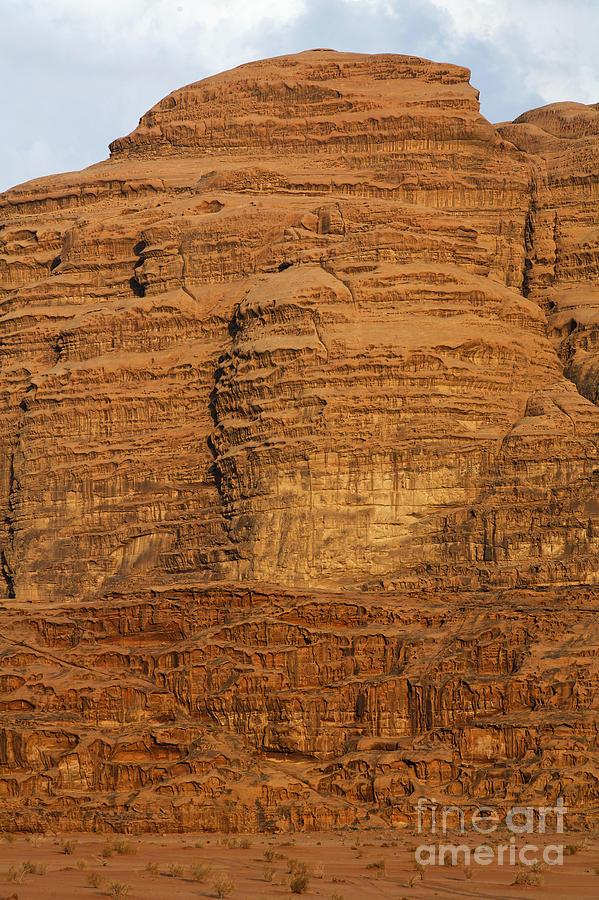 Wadi Rum Photograph - Close Up Of A Rocky Outcrop At Wadi Rum In Jordan by Robert Preston