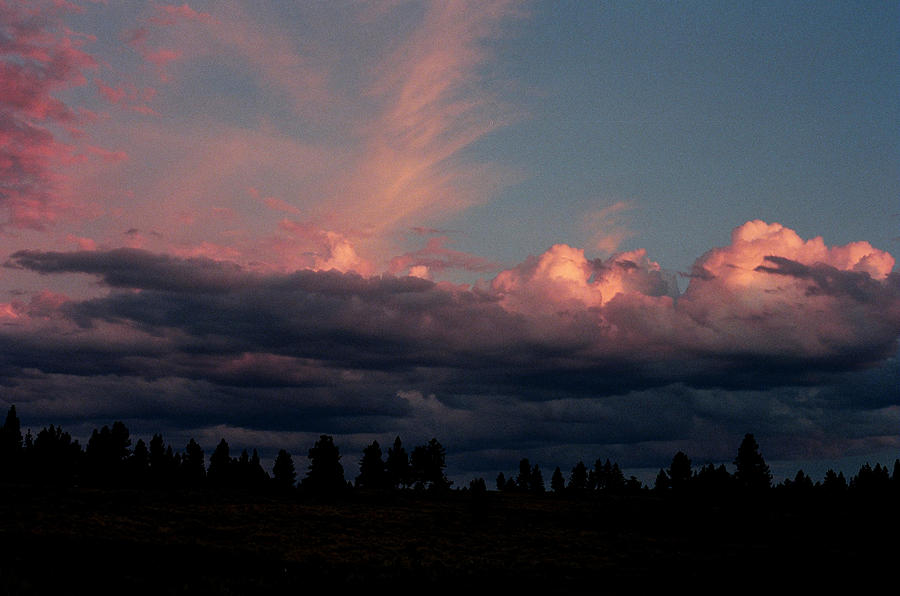Pink Clouds Photograph - Sunlight On The Cloud Tops by Jim Cotton