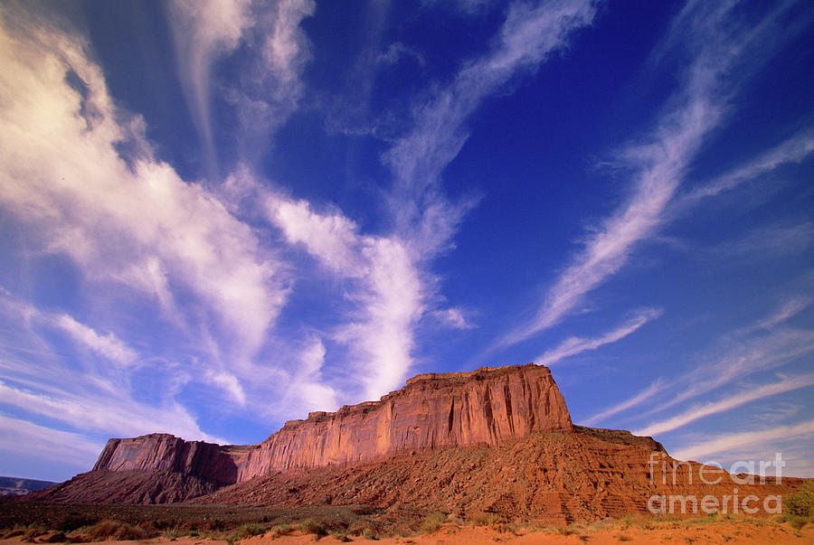 Mp Photograph - Clouds Over Monument Valley by Yva Momatiuk and John Eastcott