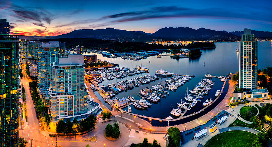 Vancouver Photograph - Coal Harbour In Vancouver by Alexis Birkill
