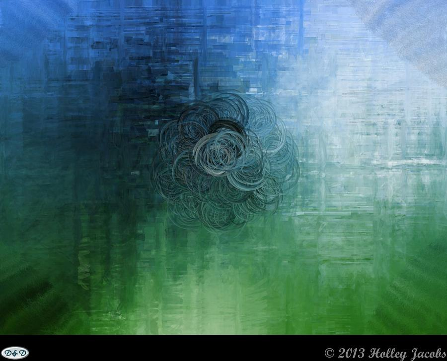 Abstract Digital Art - Color Sensation Teal by Holley Jacobs