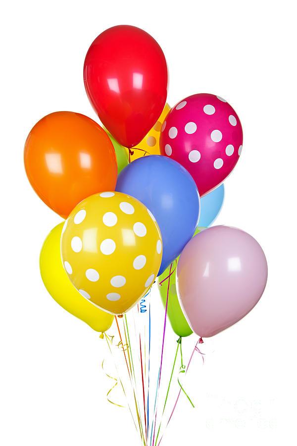 Balloons Photograph - Colorful Balloons 1 by Elena Elisseeva