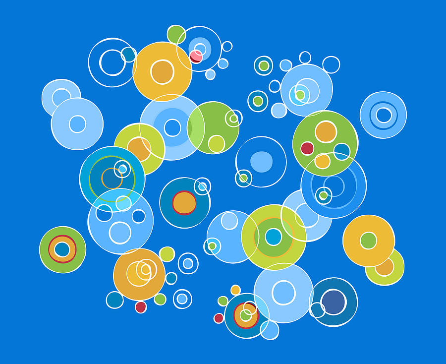 Colorful Painting - Colorful Circles by Frank Tschakert