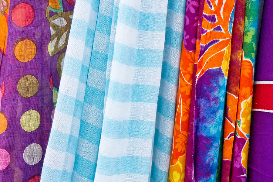 Abstract Photograph - Colorful Cloths by Tom Gowanlock