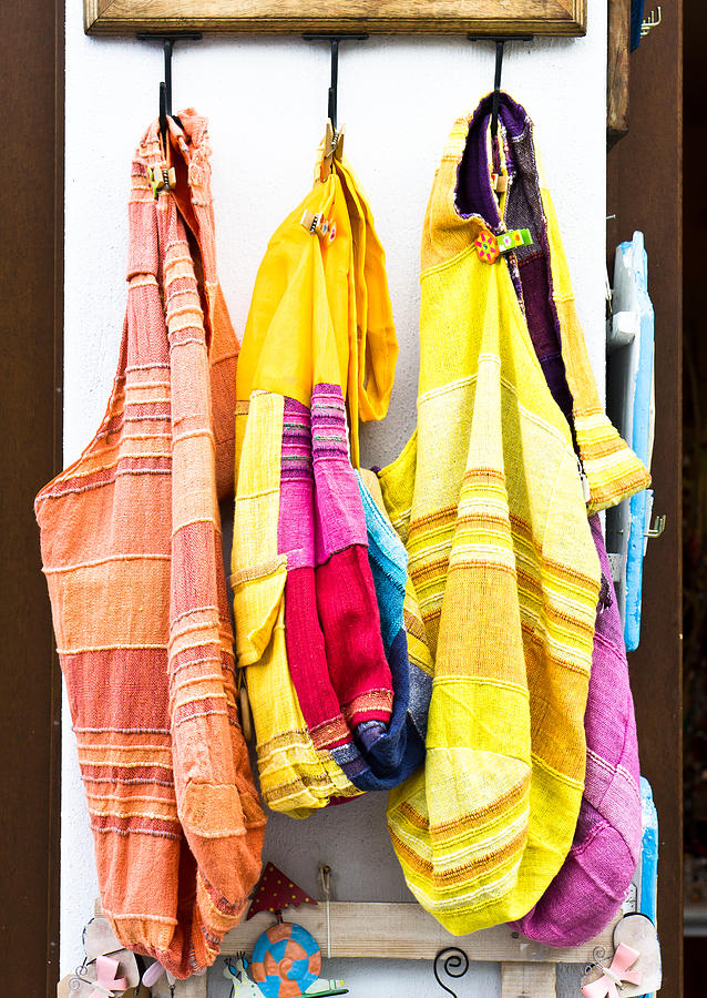 Colorful Cotton Bags Photograph