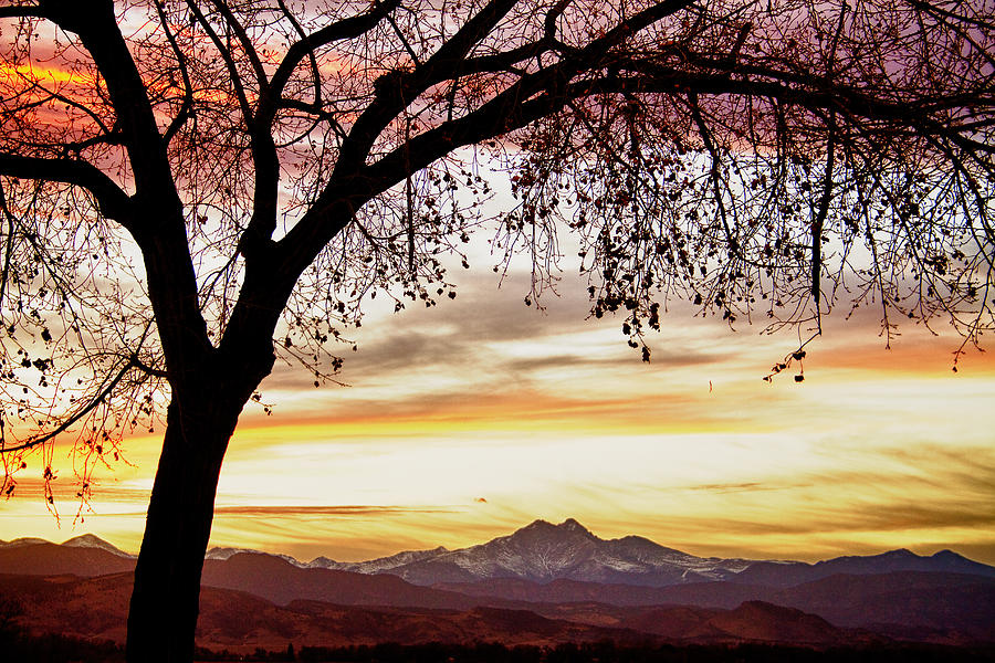 Colorful November Sunset Sky And Longs Peak Photograph by James BO ...   title   sunset in november