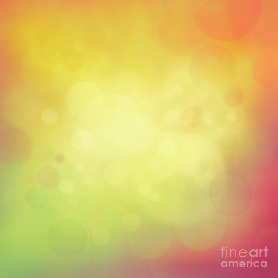 Backgrounds Digital Art - Colorful Yellow Bokeh Background by Mythja  Photography