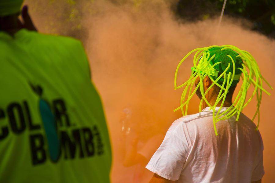 Orange Photograph - Colour Bombing by Debbie Cundy