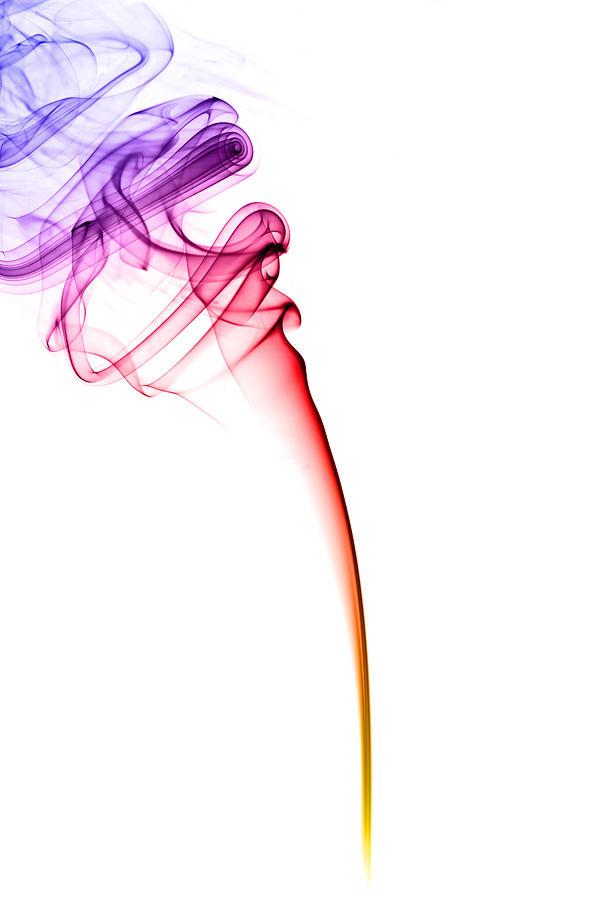 Colourful Smoke Photograph by Samuel Whitton