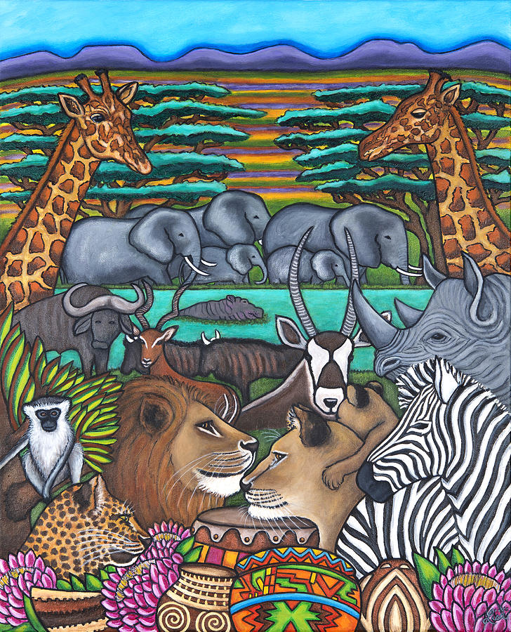 Africa Painting - Colours of Africa by Lisa  Lorenz