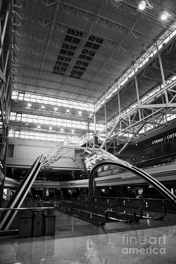 Departures Photograph - concourse B at Denver International Airport Colorado USA by Joe Fox