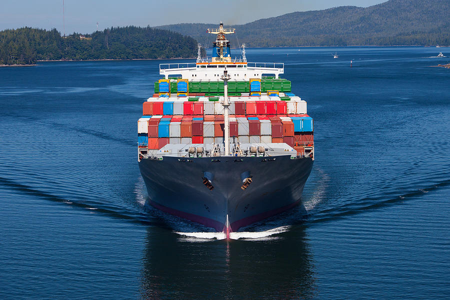 Container Ship Photograph by Dan_prat